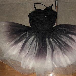 Girls ombré ballet dress